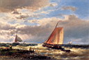 Oil painting reproduction of A Choppy Estuary
